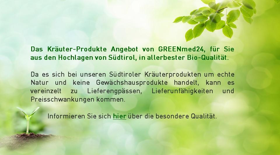 Kräutershop GREENmed24 - Besondere Bio-Qualität
