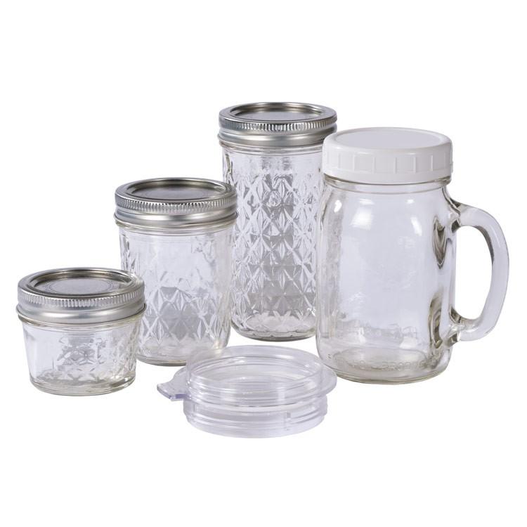 zubeh r mason jar mixbeh lter glas set 5 teilig. Black Bedroom Furniture Sets. Home Design Ideas