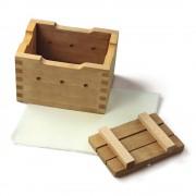 Tofu-Set aus Pinienholz